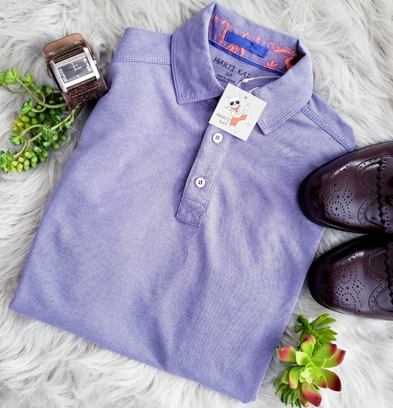 8fb6494d5 Marti Kat Shirts | Lavender Short Sleeve Polo S | Poshmark
